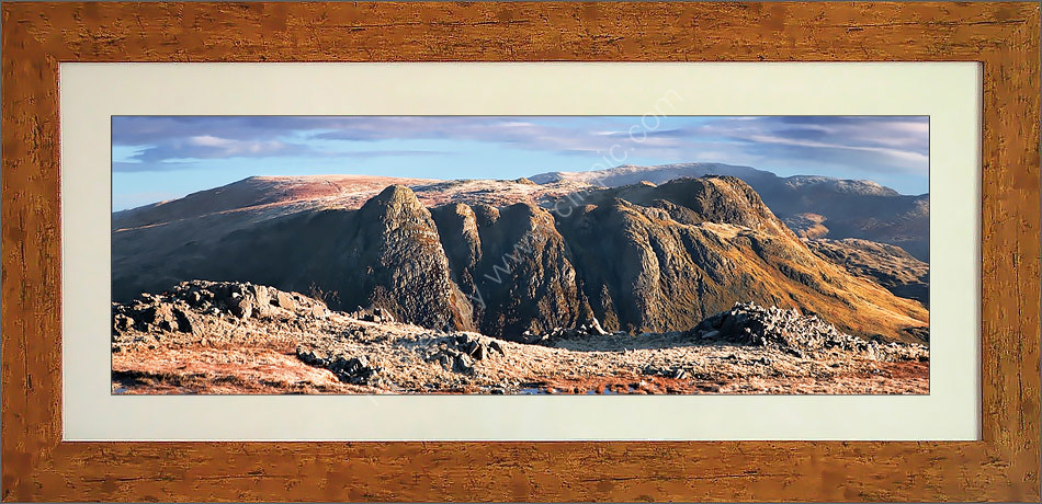 Langdale Pikes from The Band, Bowfell