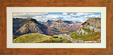 Langdale Pikes from Wetherlam