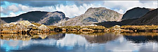 Scafell over Three Tarns