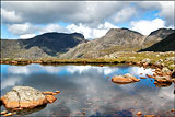 Scafell Pike and Three Tarns.