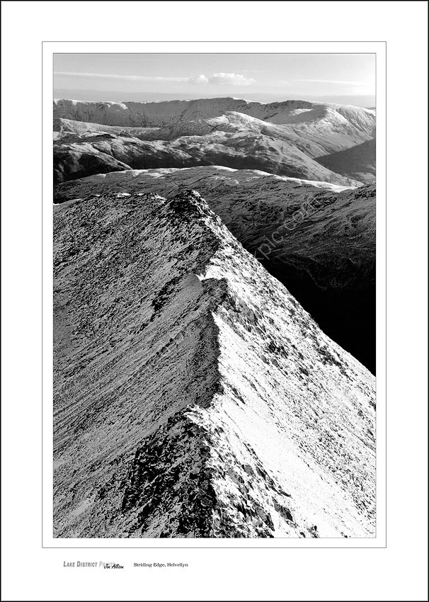 Lake district prints striding edge helvellyn