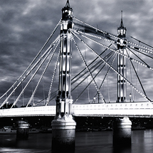 Albert Bridge - Black & White