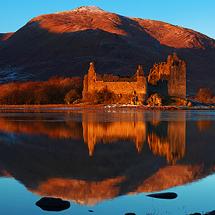 Castle Kilchurn reflected in Loch Awe