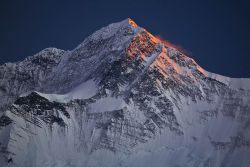 Alpine glow on the Annapurna range, Nepal
