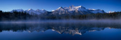 Herbert Lake and Bow Range, Canadian Rockies, Alberta
