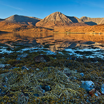 Red Cuillins reflection