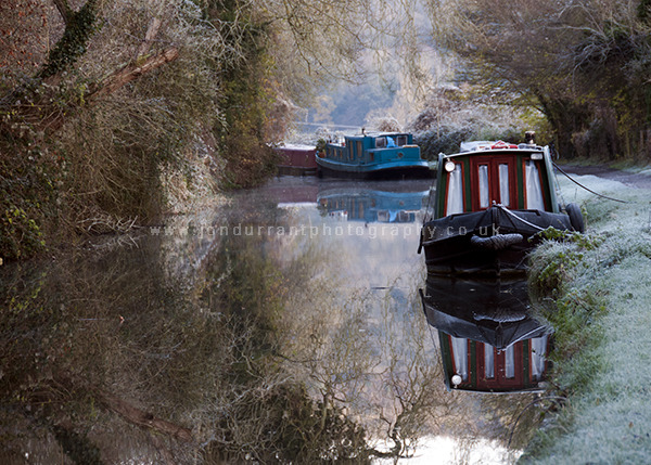 Canal Boat Winter