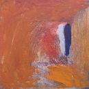 Traces.  Oil on board. 23 x 23 cm