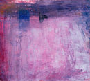 Shrouded study. Acrylic on card. 14 x 14 cm