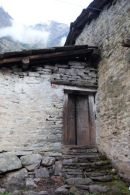 Back door to monastery Manaslu