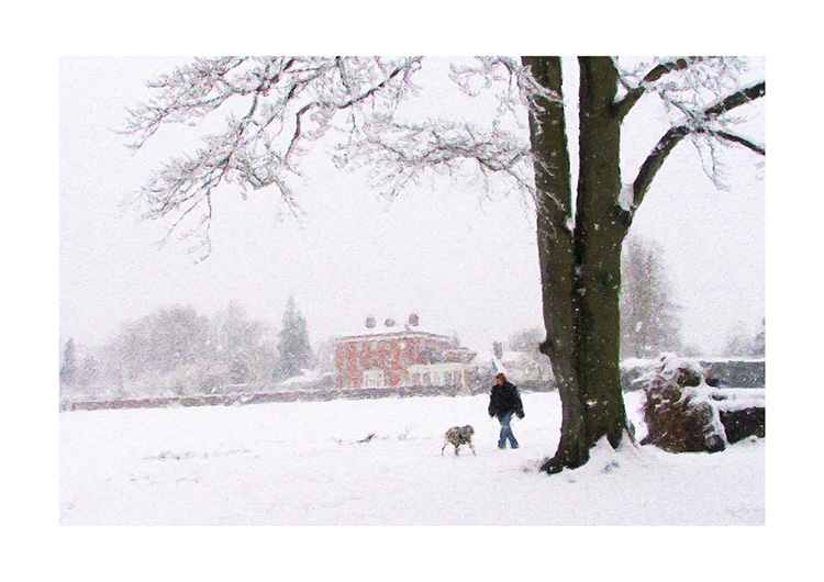 East Court in Snow