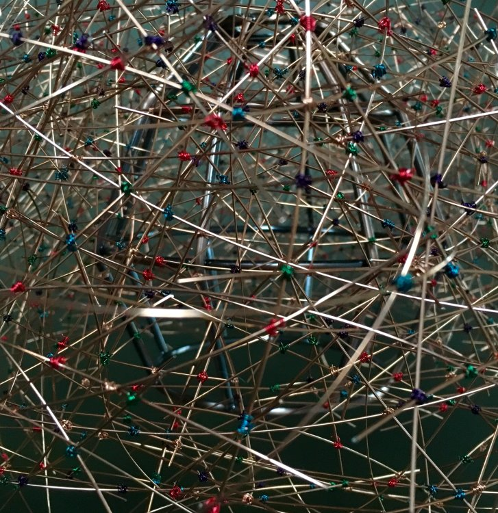 Close up shot of commission for a sculptural chandelier.