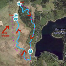 Typical training route