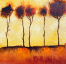 Sunset trees, France