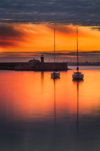 Sunset, Dun Laoghaire Harbour
