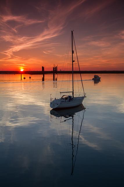Sunset Dun Laoghaire Harbour 6055