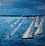 Metre Racing.100 x 100 cm canvas.Sold