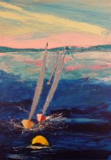 Solent Racing.Canvas 70x100 cm