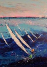 Sailing in Company 70 x 100 cm