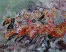 Moroccan Horsemen abstract (sold)