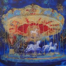 Blue and Red Carousel (sold)