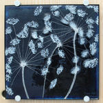 Blue Cow Parsley Wall Panel. SOLD