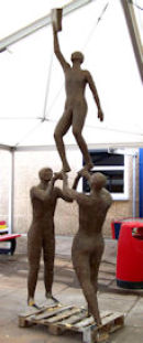 The sculpture almost completed and ready for final installation