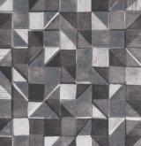 geometric mono linoprint