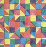 geometric primaries linoprint
