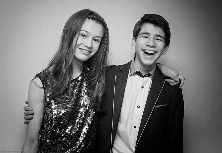 Brother & Sister at a Barmitzvah