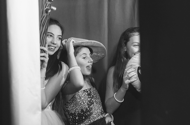 In the photo booth