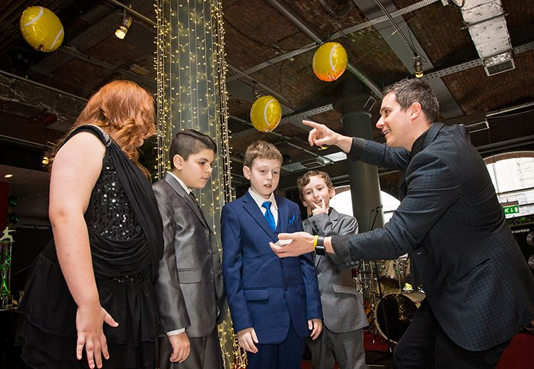 Being entertained by James Anthony Magician