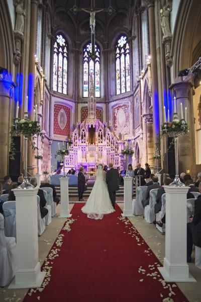 The wedding ceremony at Gorton Monastery
