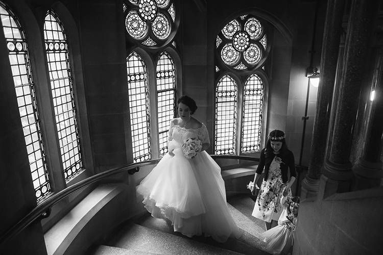 Arrival of the Bride at Manchester Town Hall