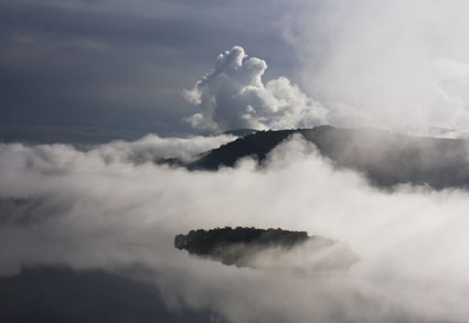 Mist over Derwent Water