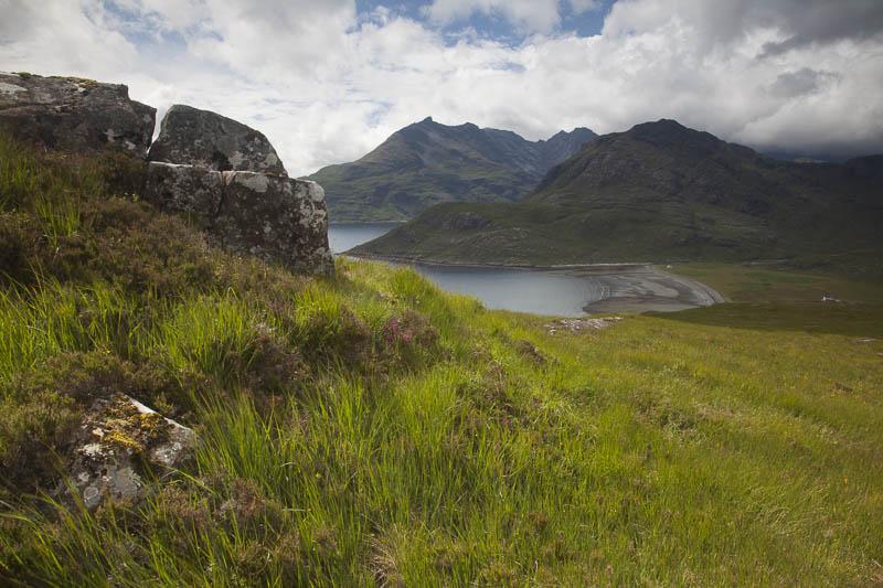 KW-SH-17-4 Cuillin Hills across Loch Scavaig Isle of Skye