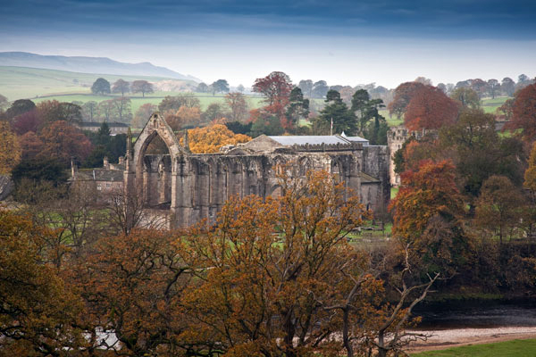 Autumn colours at Bolton Abbey on the Wharfe