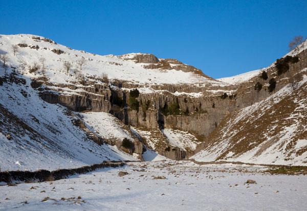 Goredale Scar in Winter