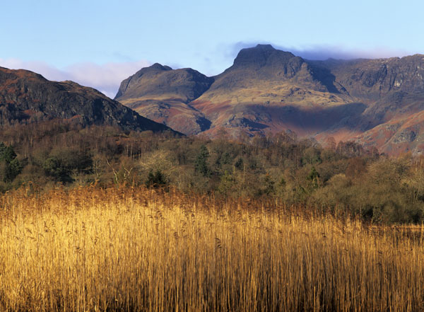 Langdale Pikes over Elterwater