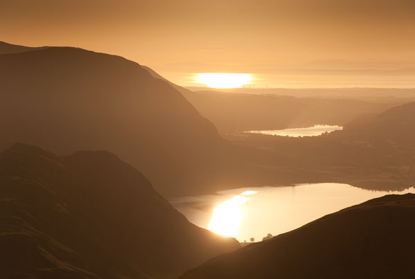 Sunset over Crummock Water