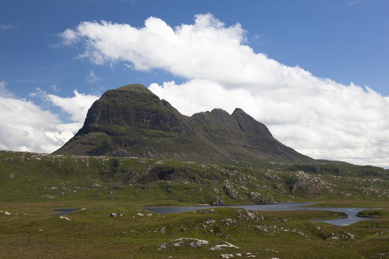 Suilven overlooks Fionn Loch,  Assynt