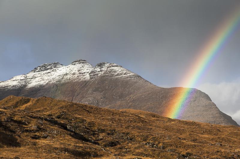 Rainbow over Beinn Alligin, Torridon