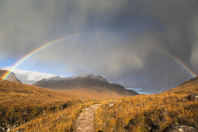 Rainbow over Beinn Dearg, Torridon