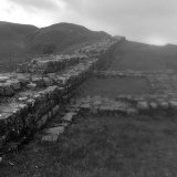 Hadrian's wall in the rain