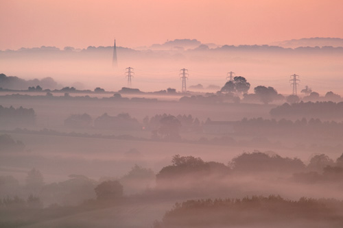 Cathedral at dawn from Knighton