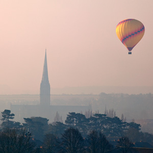 Salisbury Cathedral with Balloon