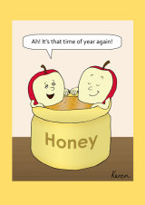 Apples bathing in honey f