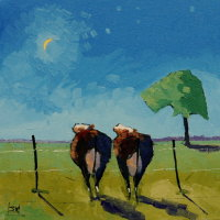 Daisie and Gertrude loved to Moo at the Moon