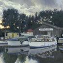 Evening Boatyard