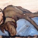 Harris Sleeping Study 6x8'' oil